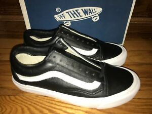 Vans Vault Old Skool OG LX sz 8 black leather supreme wtaps blends ... fc8ff360b