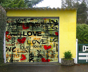 3D Graffiti Romantique Garage Porte Peint en Autocollant Murale AJ WALLPAPER FR