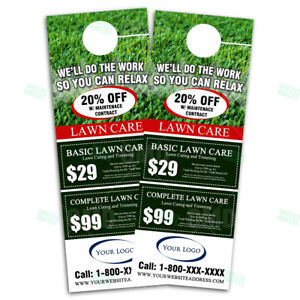 Lawn Care Company Landscaping Marketing Door Hangers 500