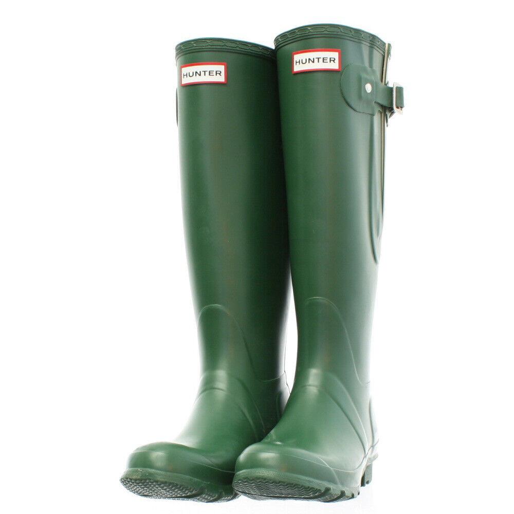Wellie Hunter Rain Boot Original Classic Tall Green 7 8 39 EU Wellington Mud NEW