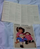 1984 Patons Cabbage Patch Doll Clothes (premie)patterns
