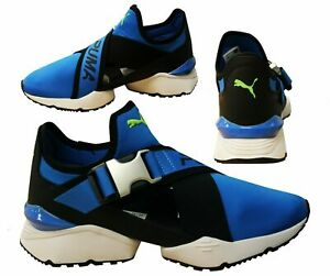 Puma Muse EOS Blue Black Textile Slip