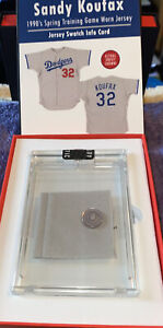 Sandy Koufax Game Worn Game Used Jersey Swatch - Button Relic 4/6 Rare History