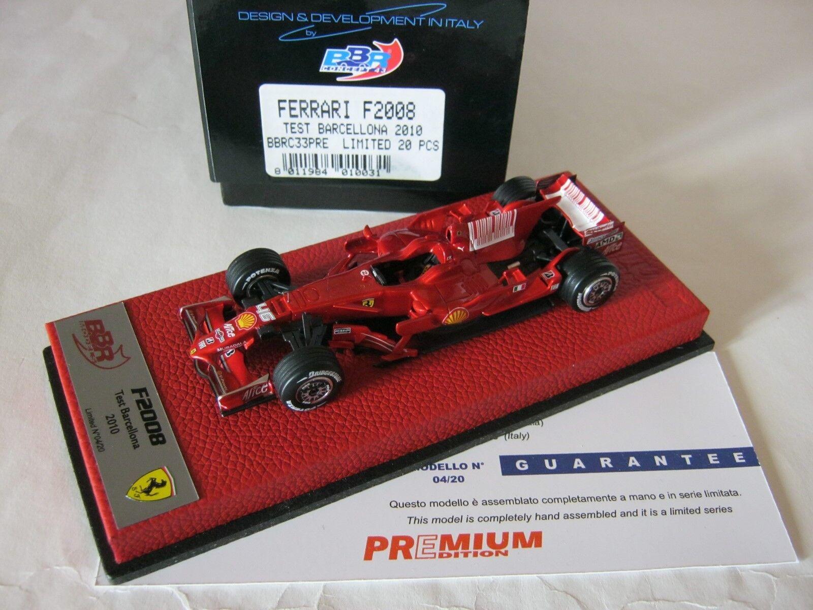 F1 BBR 1 43 FERRARI F2008 TEST BARCELONE 2010 VALENTINO ROSSI BBRC33PRE