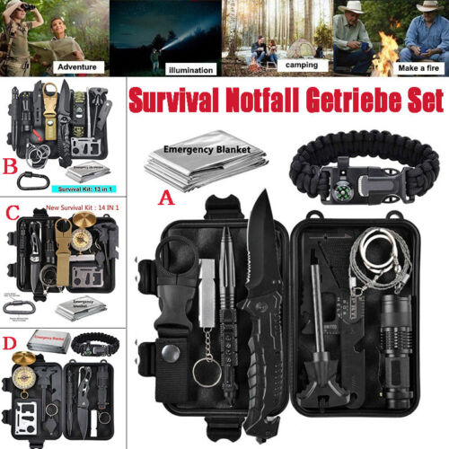 Survival Notfall Getriebe Set Überleben Outdoor Camping Außen Militär Multi Tool