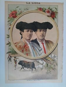 1893-La-Lidia-Revista-Taurina-Ano-XII-Numero-12-Jose-Moyano-y-Manuel-Rodas-Toros