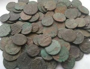 Lot-2-original-Ancient-Roman-imperial-coins-Constantine-I-337AD-amp-Constantius-II
