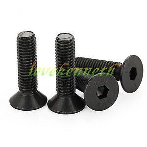 10pcs-M8-Black-10-9-Alloy-Steel-Flat-Head-Countersunk-Sink-Hex-Socket-Screw-Bolt
