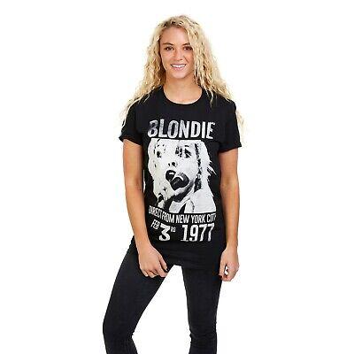 Ladies Sizes S,M,L,XL Graphic T-shirt Blondie Black New York Rock