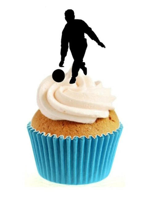 Bowler//Bowling ANY COLOUR 12 Edible Stand Up wafer paper cake toppers birthday