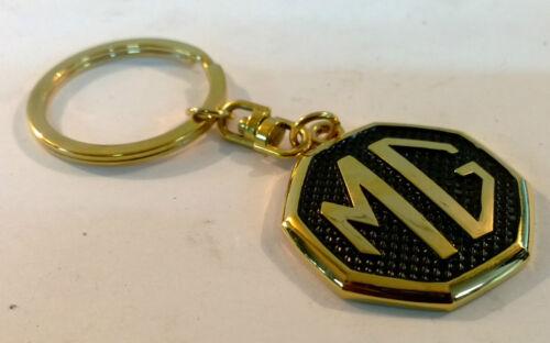 MG 24ct GOLD PLATED KEYRING MGB MGF GT MIDGET ROADSTER ZS ZT ZR TF 24K