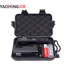 G700 Tactical Flashlight 3800LM CREE XM-L T6 LED 10W 18650 battery+charger+box