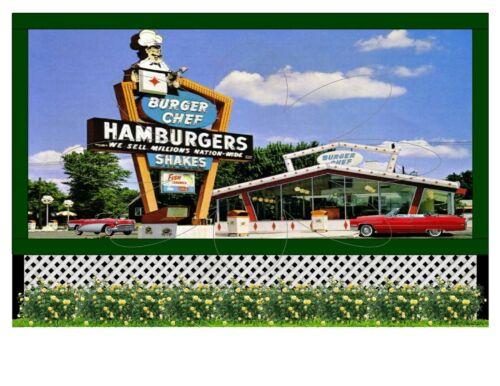 "6/"" x 4/"" Refrigerator Magnet of  /""BURGER CHEF HAMBURGERS/"""