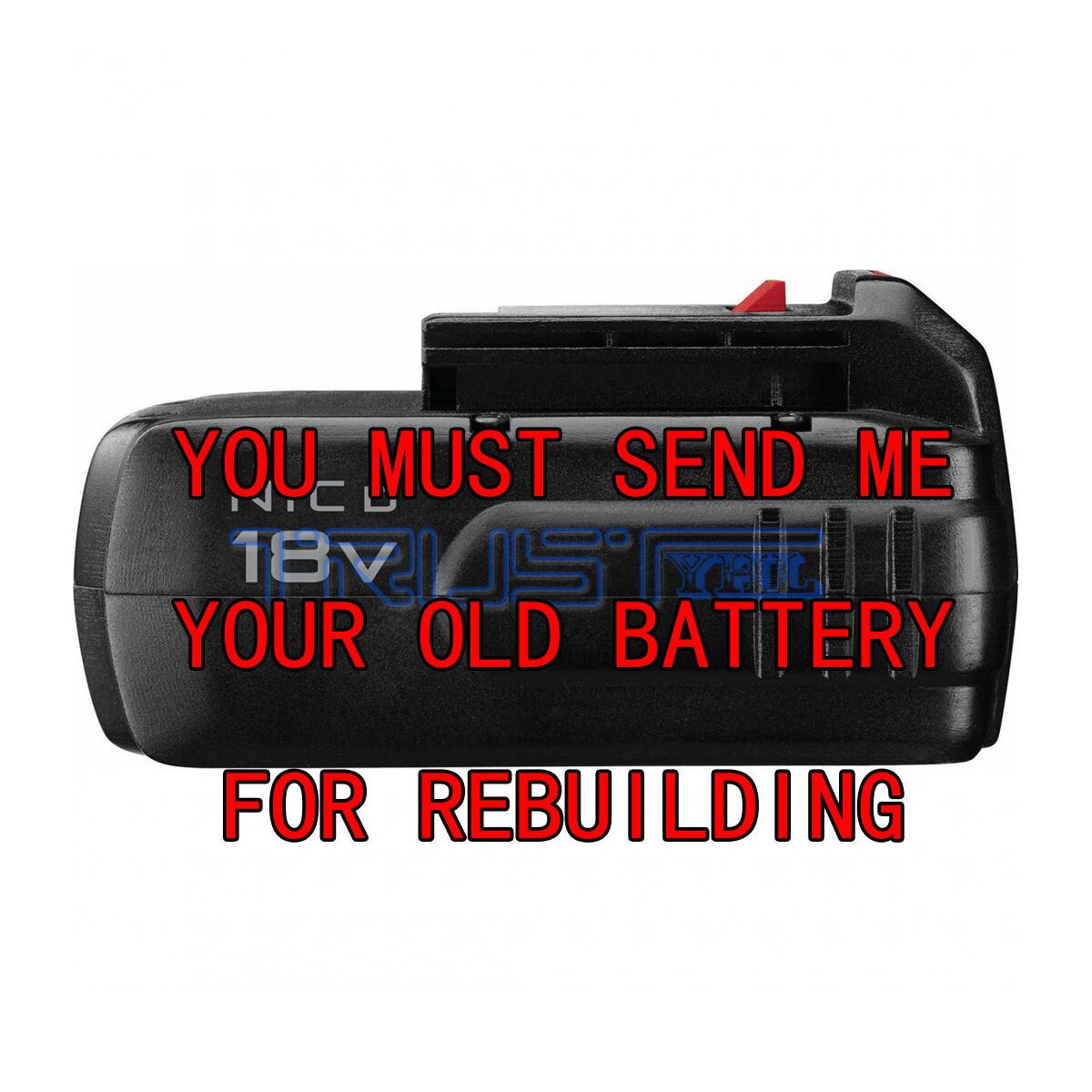 Re-build service for PORTER-CABLE PC18B NI-MH  3.0 18-Volt Battery