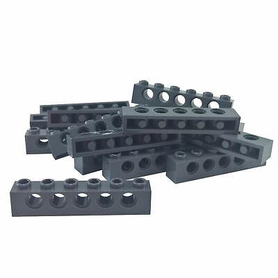 LEGO Technic Light Bluish Gray 1 x 6  Brick Beam with Holes Lot of 3