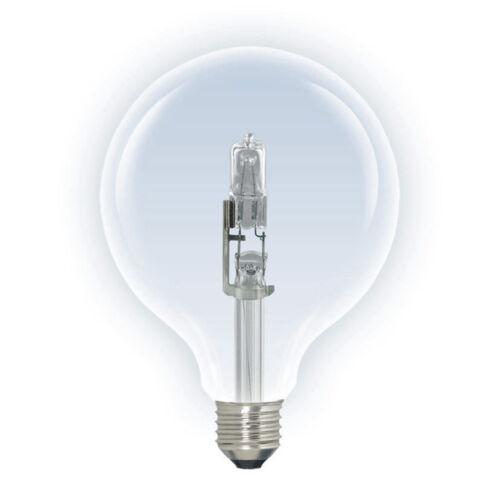 LAES Eco Halogen Glühbirne Globe G125 42W fast 60W E27 klar Glühlampe dimmbar