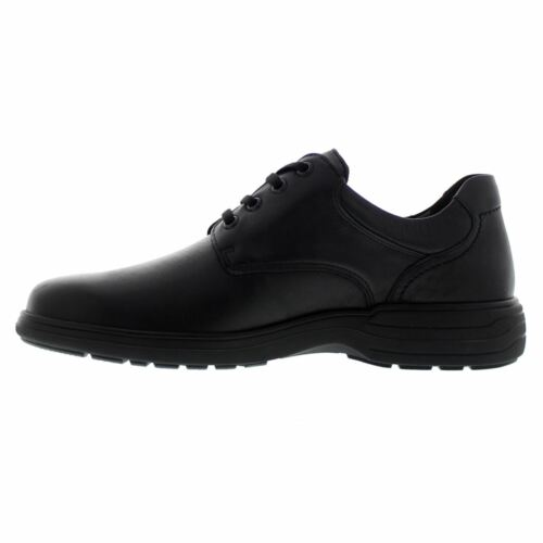 Mephisto Denys Black Mens Leather Lace-up Low-profile Comfort Soft-Air Shoes