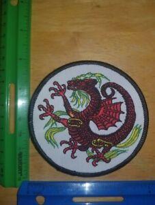 Red/White Dragon Patch Karate Kenpo KungFu Judo Jui-Jitsu Tae Kwon Do MMA