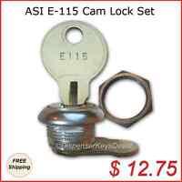 (asi) E115 Cam Lock Set 10046 For Paper Towel, Toilet Tissue Disp. (1/set)