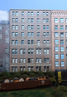 #236 N scale background building flat   OLD OFFICE  BUILDING #2  *FREE SHIPPING*