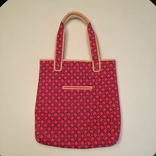 Juicy Couture Pink Printed Neoprene Computer Bag Tote Leather Trim