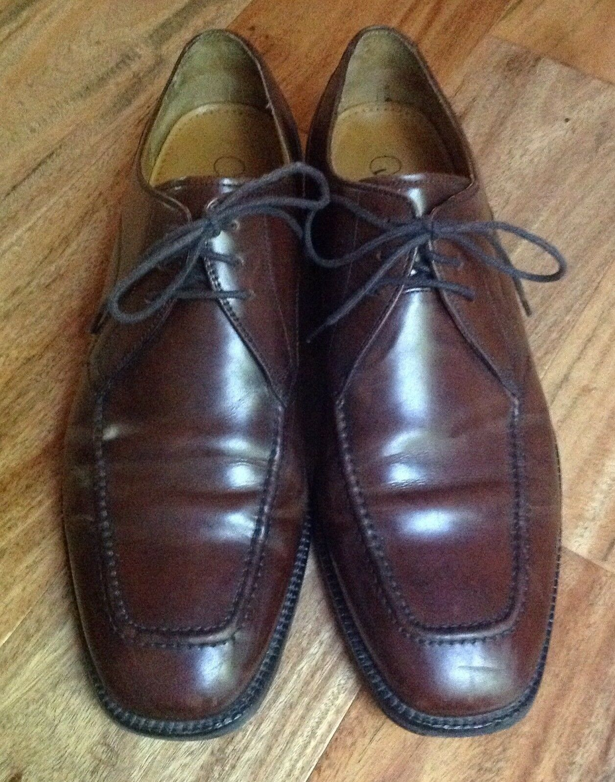 Cole Haan 10 M Classic Brown Toe Oxford Tie Shoes Square Toe Brown Nice CO7138 9d4fb3