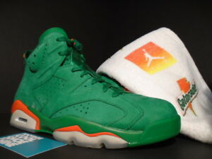 63377269ded9 NIKE AIR JORDAN VI 6 RETRO NRG G8RD GATORADE PINE GREEN ORANGE ...