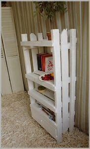 Vintage Regal Weiß aus altem Holz Impressionen Shabby Chic Landhaus ...