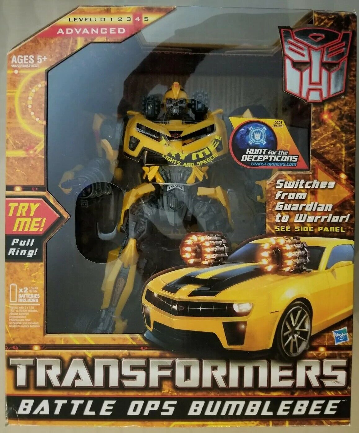 2010 HASBRO Transformers HFTD Hunt For The Decepticons BATTLE OPS BUMBLEBEE NEW