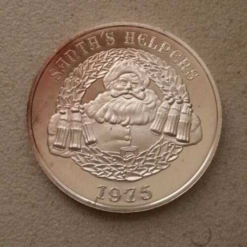 1975 Coca-Cola Santa's Helpers 1/2-oz .999 silver art rounds - toning