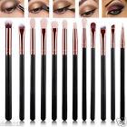 12PCS Professional Eye Shadow Brushes Set Blending Pencil Makeup Brushes Set New