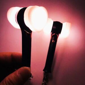 Kpop-Blackpink-Mini-Lightstick-Keychain-Hammer-Heart-Keyring-JISOO-JENNIE-LISA