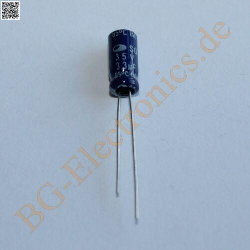 25 x 33µF 33uF 35V 85° RM2 Elko Kondensator Capacitor Rad Samsung E-Cap 25pcs