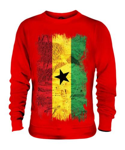 Ghana Grunge Drapeau Unisexe Pull Top Ghanéens shirt Football Jersey Cadeau