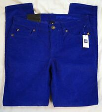 Gap Premium Skinny Bright Cobalt Corduroy Womens Pants Size 0/24 NWT (GW#2556)