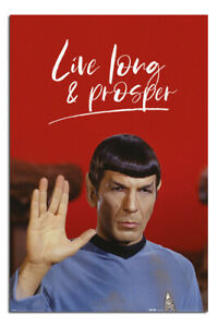 LIVE SHORT /& SUFFER limited edition print signed STAR TREK SPOCK lowbrow sci fi