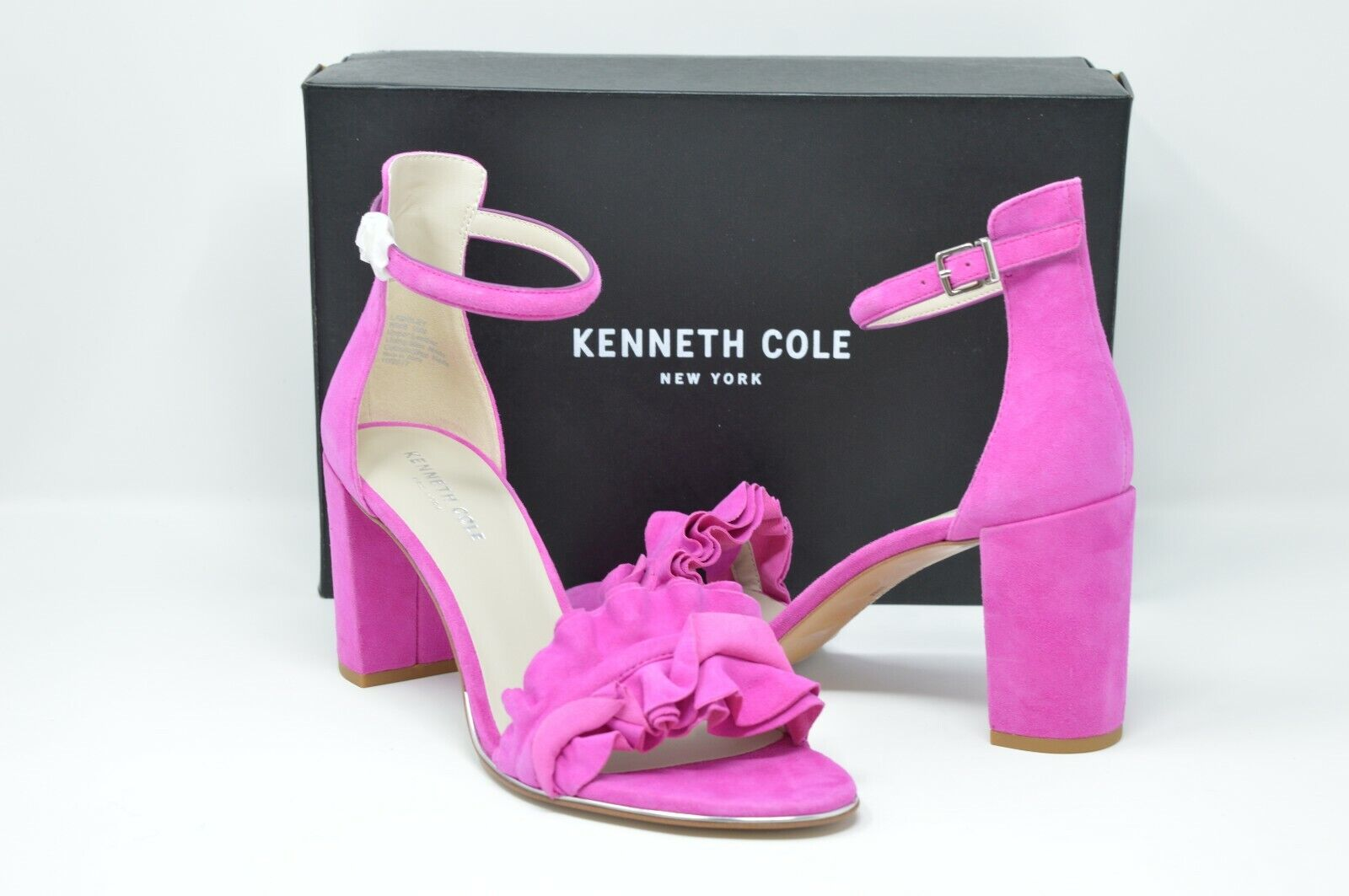 Kenneth Cole New New New York Donna  Langley Ankle Strap Sandal Bubble Gum, Dimensione 10 d99e5b