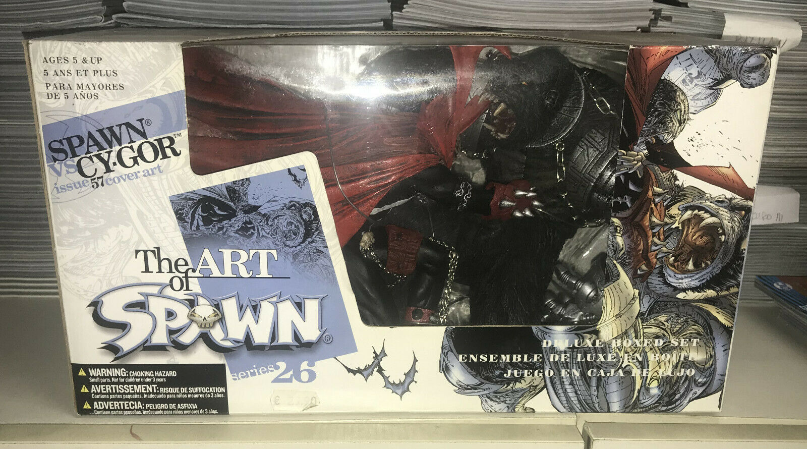 SPAWN VS CY-GOR Deluxe scatolaed Set (THE ART OF SPAWN SERIES 26) McFarlane giocattoli