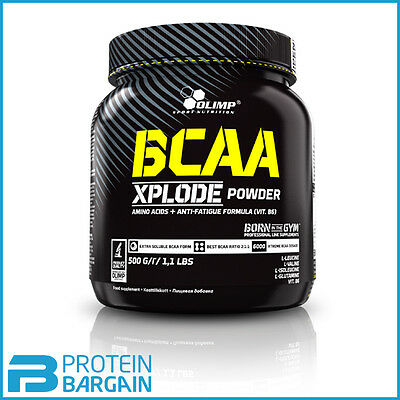 Olimp BCAA Xplode 500 Gram Branch Chain Amino Acids - 2:1:1 Ratio - 50 Servings