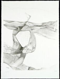 Kunst-in-der-DDR-Der-Schlaf-1989-Lithogr-Thomas-RANFT-1945-D-handsigniert