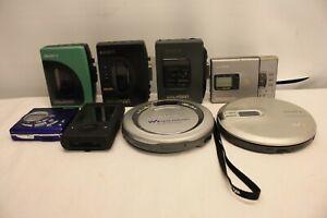 JOB-LOT-8-x-Sony-WM-EX21-WM-EX34-walkman-FM-AM-Disk-Man-Discman-di-ricambio-e-riparazione