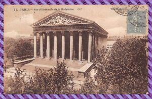 Tarjeta-Postal-Paris-vista-de-039-conjunto-de-la-magdalena