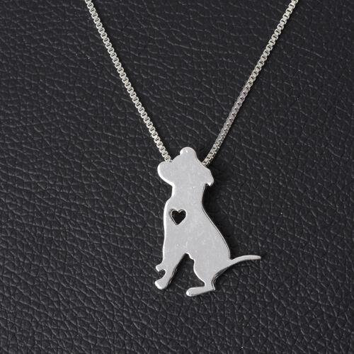 Moda Para mujeres Chicas Mascota Perro hueco corazón Colgante Joyería necklce