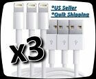 3x  Lightning USB Cable For Apple iPhone 7 7s 6s Plus 6 5s Data Sync Charger