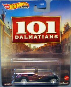 HOT WHEELS 2021 RETRO ENTERTAINMENT 101 Dalmations Cruella De Vil Real Riders