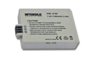 BATTERIA-Intensilo-1100mAh-per-CANON-LP-E5-EOS-500D-500-D-100-D-450-D-ACCU