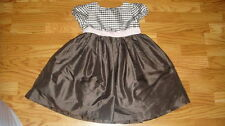 GYMBOREE CELEBRATE SPRING SILK DRESS BROWN 5T