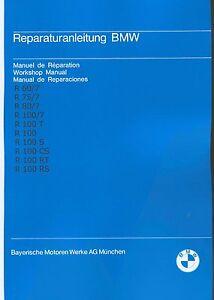 Instandsetzung<wbr/>sanleitung / Anleitung BMW R 100 80 75 60 /7 ; R100 R80 R75 R60