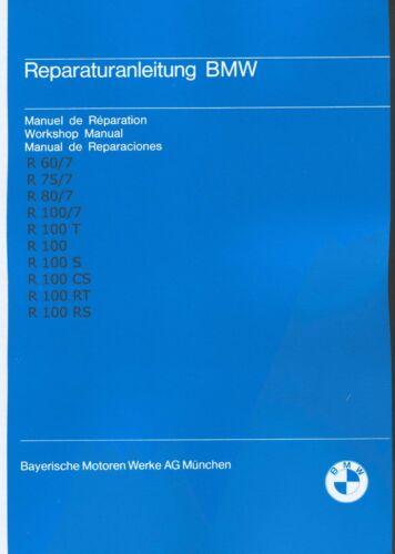 Istruzioni Riparazione//istruzioni BMW R 100 80 75 60//7; r100 r80 r75 r60