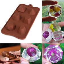 Nozze di diamante Gem ICE CUBE vassoio torta al cioccolato fondente in Silicone Muffa Stampo (51